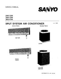 Manuale di servizio Sanyo 24K12W