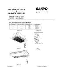 Manuale di servizio Sanyo CL4232