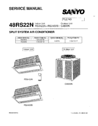 Service Manual Sanyo RS2422A