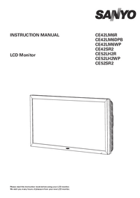 User Manual Sanyo CE52LH2WP