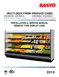 Service and User Manual Sanyo CVW-EXA124
