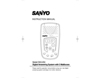 User Manual Sanyo DAS-204