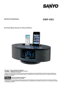 User Manual Sanyo DMP-692