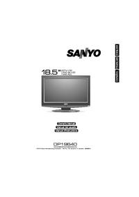 User Manual Sanyo DP19640