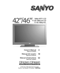 User Manual Sanyo DP46841