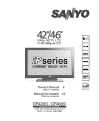 User Manual Sanyo DP46861