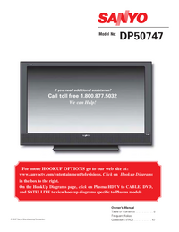 User Manual Sanyo DP50747