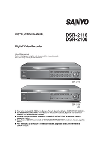 User Manual Sanyo DSR-2108