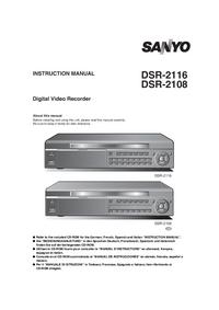 Instrukcja obsługi Sanyo DSR-2108