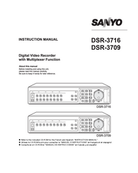 User Manual Sanyo DSR-3709