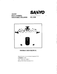 Manual del usuario Sanyo EC-310