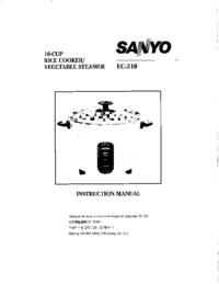 Manual do Usuário Sanyo EC-310