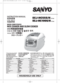 User Manual Sanyo ECJ-HC100H