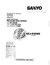 User Manual Sanyo ECJ-PX50S