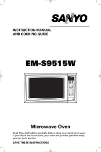 User Manual Sanyo EM-S9515W