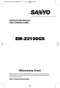 User Manual Sanyo EM-Z2100GS