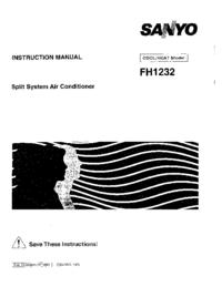 Manual del usuario Sanyo FH1232