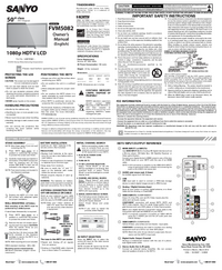 User Manual Sanyo FVM5082