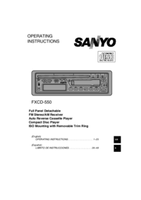 Manuale d'uso Sanyo FXCD-550
