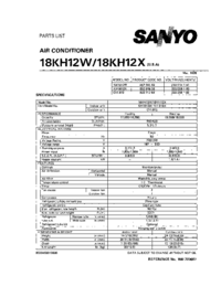 Part List Sanyo 18KH12X