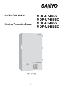 User Manual Sanyo MDF-U5486S