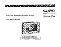 User Manual Sanyo NVM-4030