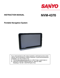 User Manual Sanyo NVM-4370