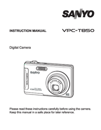 User Manual Sanyo VPC-T850