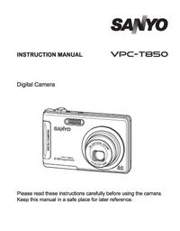 Руководство пользователя Sanyo VPC-T850