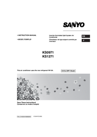 Manual del usuario Sanyo KS0971