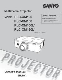 Instrukcja obsługi Sanyo PLC-XM100
