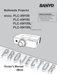 Gebruikershandleiding Sanyo PLC-XM100L