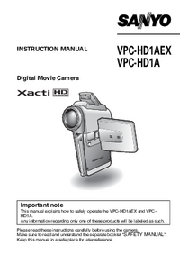 User Manual Sanyo VPC-HD1A