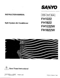 Instrukcja serwisowa Sanyo FH1 222W