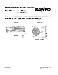 Manual de servicio Sanyo CL 1822