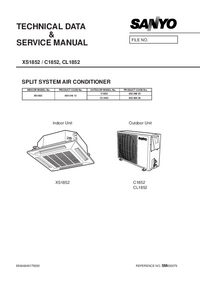 Service Manual Sanyo CL 1852