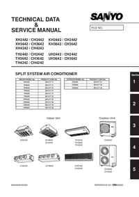 Manual de servicio Sanyo XH2442