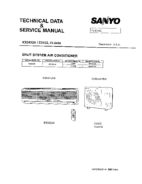 Service Manual Sanyo CL 2432