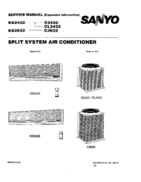 Service Manual Sanyo CL 2422
