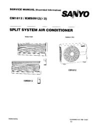 Instrukcja serwisowa Sanyo CM1812
