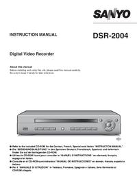 Bedienungsanleitung Sanyo DSR-2004