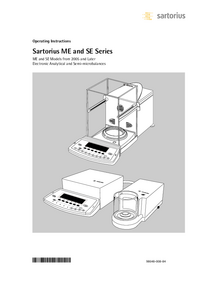 User Manual Satorius ME235