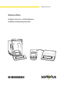 Manuale d'uso Satorius MC 210 P