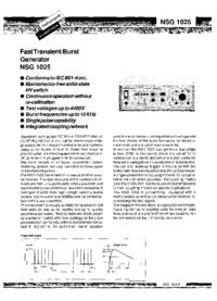 Scheda tecnica Schaffner NSG 1025