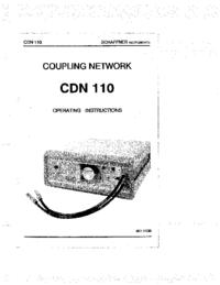 Bedienungsanleitung Schaffner CDN 110
