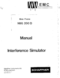 Manual del usuario, Diagrama cirquit Schaffner NSG 200 D