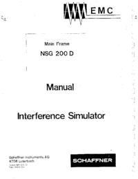 Руководство пользователя, Схема Cirquit Schaffner NSG 200 D