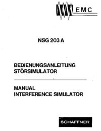Instrukcja obsługi Schaffner NSG 203 A