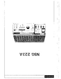 Руководство пользователя Schaffner NSG 223 A