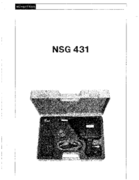 Service and User Manual Schaffner NSG 431